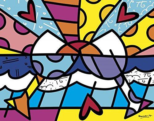 Romero Britto Cheers Wine Abstract Contemporary Poster