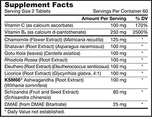 Jarrow Formulas Adrenal Optimizer, Supports Adrenal Renewal and Stress Reduction, 120 Tabs (Pack of 2)