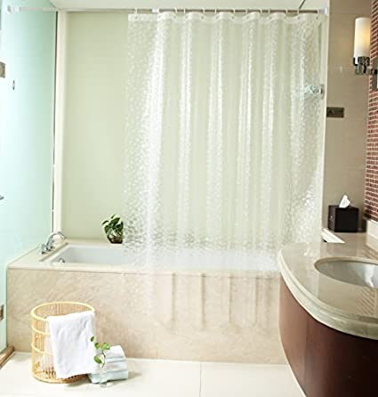 Ufelicity Home Fashion Washable PVC Free Shower Curtain Liner Water Resistant No More Mildews