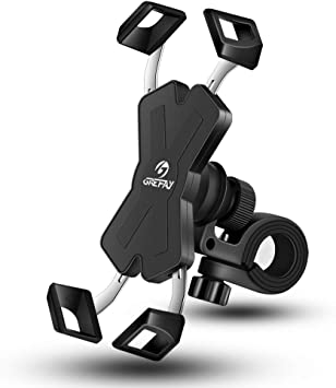 Grefay Soporte Movil Bicicleta Metalizado Soporte Manillar Motocicleta Scooter para 4.0-7.0 Pulgada Smartphones con Rotación 360°: Amazon.es: Electrónica