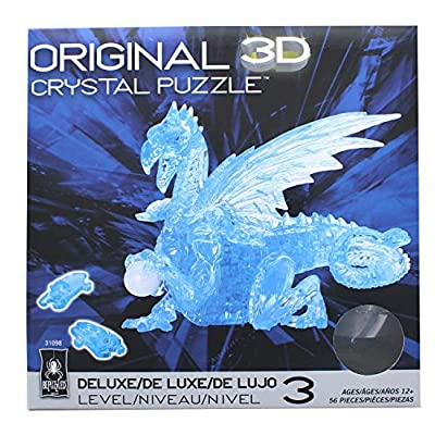 Deluxe Crystal Puzzle-Dragon (Blue): Toys & Games