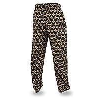 Zubaz NFL New Orleans Saints Men's Team Logo Print Comfy Jersey Pants, Large, Black