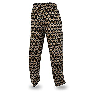 Zubaz NFL New Orleans Saints Men's Team Logo Print Comfy Jersey Pants, Medium, Black