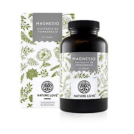 NATURE LOVE® Magnesio - 2250 mg citrato de magnesio, de ello 360 mg magnesio