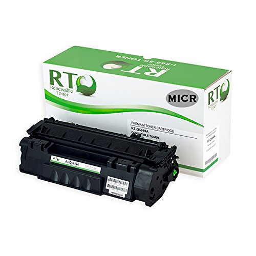 (Renewable Toner Compatible MICR Toner Cartridge Replacement for HP Q5949A 49A LaserJet 1160 1320 3390 3392)