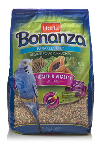 Hartz Bonanza Health & Vitality Blend Parakeet Food - 4Lb Bonanza Cockatiel Gourmet Diet