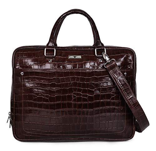 Urban Forest Zane Brown Printed Leather Messenger Bag for Men