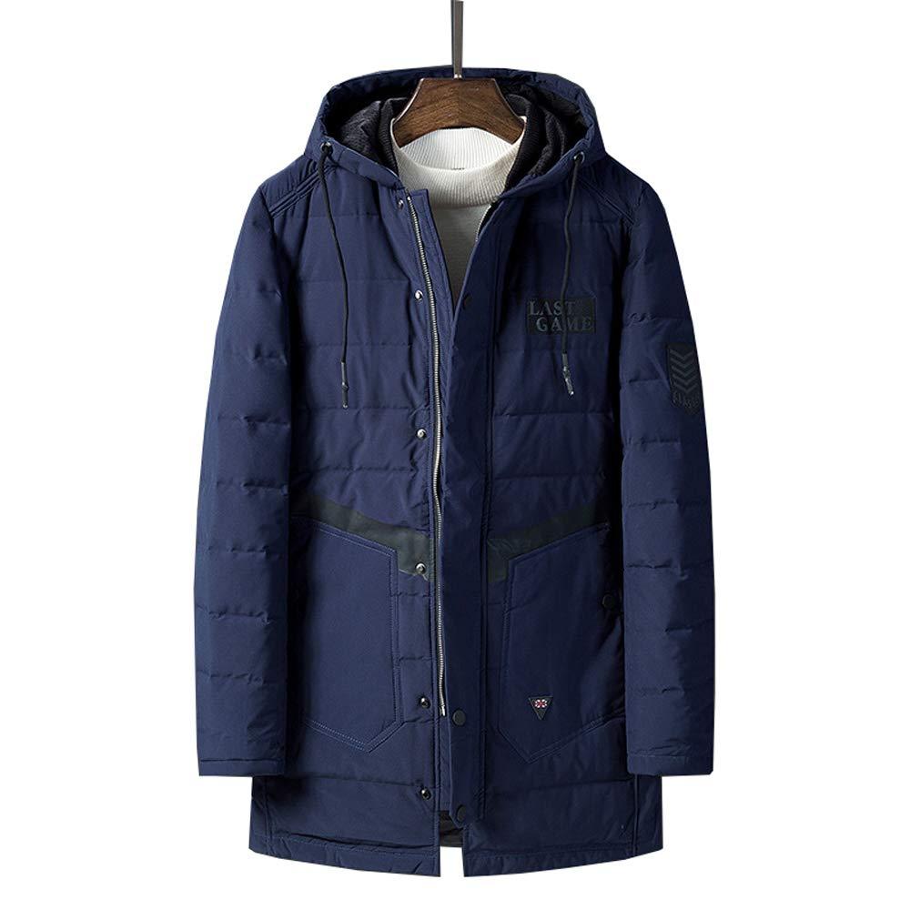 New Winter Men/'s Jacket Smart USB Electric Heating Warm Down Outwear hooded Coat