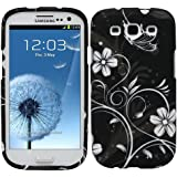 Fosmon MATT Series Rubberized Design 2 Piece Case for Samsung Galaxy S III i9300 / ATT SGH-i747 / Verizon SGH-i535 / T-mobile SGH-T999 / Sprint SPH-L710 - (White Flower Design)