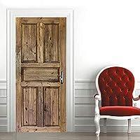 FGHYTR Deurbehang zelfklevende deurfolie deurposter 3D houten deur deurbehang fotobehang deurfolie poster behang…