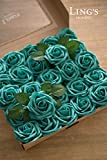 Ling's moment Artificial Flowers 50pcs Real Looking