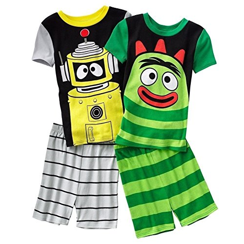 Nickelodeon Boy Yo Gabba Gabba Brobee Plex 4 PC Short Sleeve Pajama Set Size 6]()