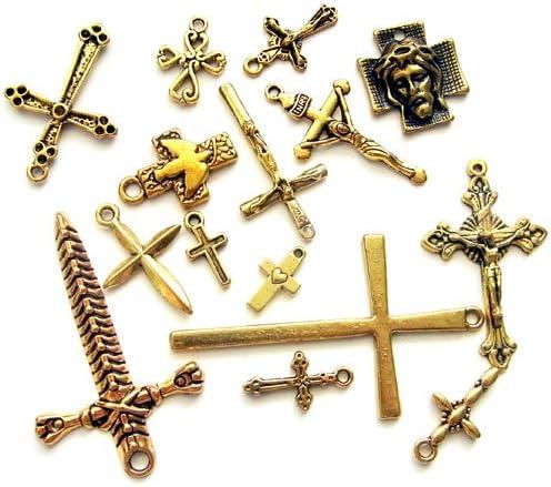 十字架チャームセット G 10種以上20個入
