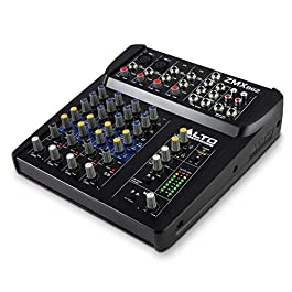 Alto Professional ZMX862   Studio Quality 6 Channel Compact Audio Mixing Desk with Two XLR Microphone Inputs, Two Stereo…
