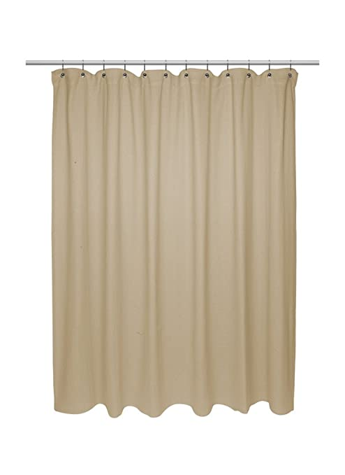 Carnation Home Fashions Chevron tejido algodón cortina de ducha ...