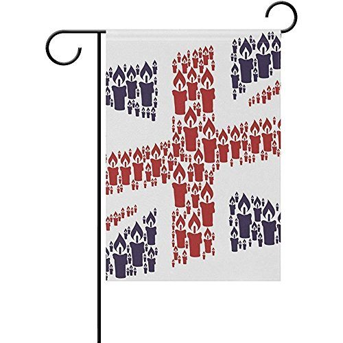 Bhuis Garden flags Double Sided 12 x 18 Inches Union Jack Ca
