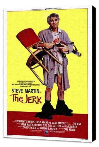 ArtFuzz The Jerk 27 x 40 Movie Poster - Style B - Museum Wrapped Canvas