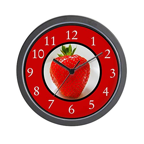 47 zhjxBuy Cherry Red Strawberry - Unique Decorative 10 inch Round Wall Clock ()