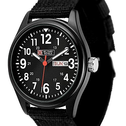 Military Royale diseño Suizo cuarzo para hombre Designer mejores relojes Negro Bandas MR051: ESS: Amazon.es: Relojes
