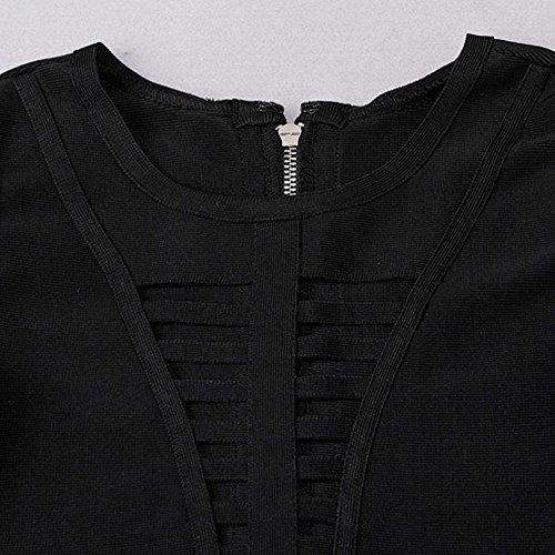 2 Hülse Schwarz Damen Aushöhlen Stück Kunstseide Halbe Kleid HLBandage Verband 4dwqfq