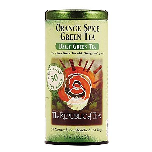 (The Republic of Tea, Orange Spice Green Tea, 50-Count)