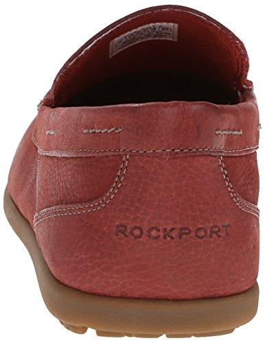 Rockport Mens Bennett Lane 3 Venetian Slip-on Loafer Röd Tvätt Nubuck