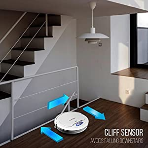 PureClean Automatic Robot Vacuum Cleaner - cliff sensor