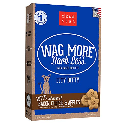 Cloud Star Wag More Bark Less Itty Bitty Oven Baked Treats with Bacon, Cheese & Apples - 8 oz.