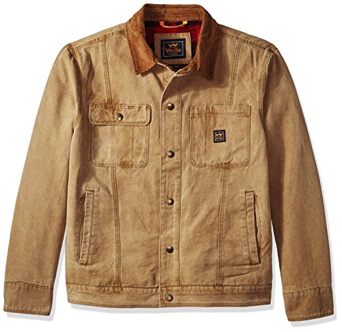 Walls Men's Amarillo Vintage Duck Cotton Twill Jacket, Washed Pecan, X-Large