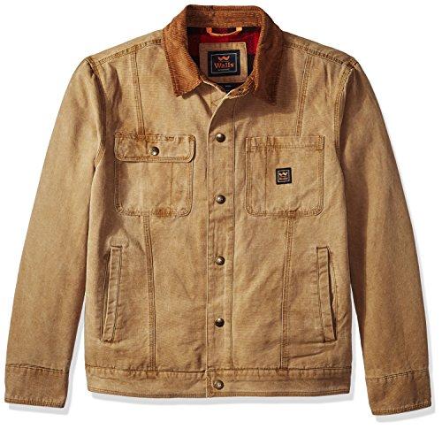 Vintage Duck - Walls Men's Amarillo Vintage Duck Cotton Twill Jacket, Washed Pecan, Large