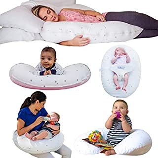 CozyBaby 5-in-1 Pregnancy, Breast Feeding & Baby Pillow. 5 Essential Uses from Pregnancy Pillow to Feeding Pillow & Baby Lounger Plus Tummy Time Pillow & Sitting Support Pillow
