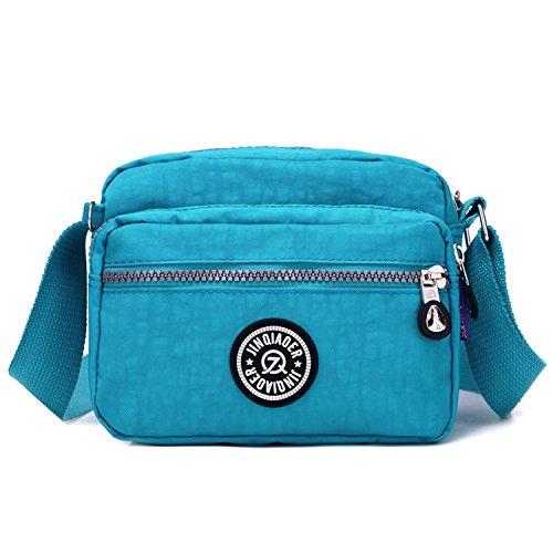 Deporte 3 Bolsas Bolso de Azul Bolsas para Bolsos Viaje Casual de Impermeable Bolsos Mujer Moda Ligero Escuela Pequeña de Bandolera Outreo qA84aRwy