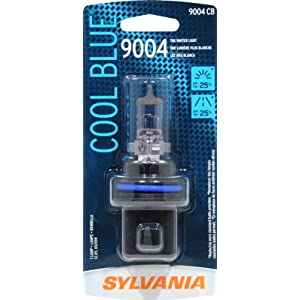 Sylvania 9004 CB Cool Blue Halogen Replacement Bulb (Low/High Beam), (Pack of 1)