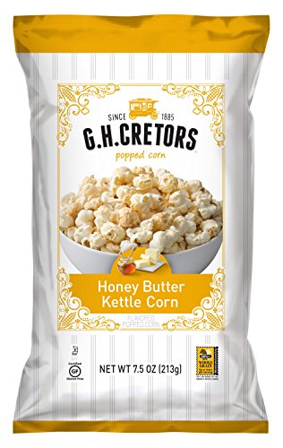 - G.H. Cretors Honey Butter Kettle Corn,  7.5 Ounce Bags (Pack of 12)