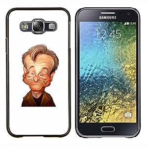 LECELL--Funda protectora / Cubierta / Piel For Samsung Galaxy E5 E500 -- robin el actor cómico de stand up caricatura --
