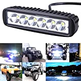 LED Light Bar 2Pcs 18W 6inch LED Work Light Bar Spot Flood Combo Driving Fog Light Off Road SUV Truck Jeep Lamp