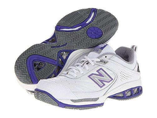 見つける細胞意志(ニューバランス) New Balance レディーステニスシューズ?スニーカー?靴 WC806 White 12 (29cm) D - Wide