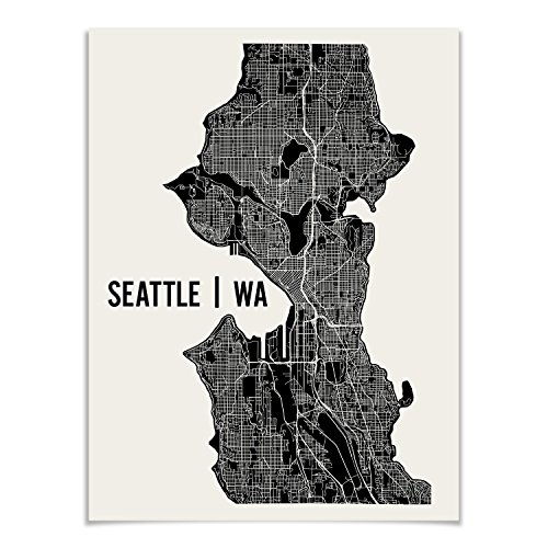 Seattle Map Art Print by Mr City Printing