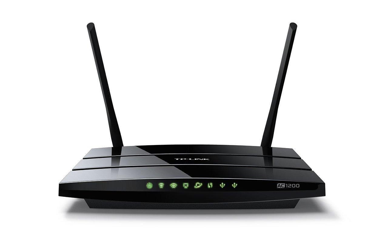 TP-Link Archer C5 AC1200 Dualband Gigabit WLAN Router (867Mbit/s (5GHz) + 450Mbit/s (2,4GHz), 4 Gigabit LAN Ports, 2 USB 2.0, Print/Media/FTP Server, APP Steuerung) schwarz Archer C5 V2.0