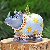 Patience Brewster Mini Roberta Rhino Christmas Figural Ornament 08-30951