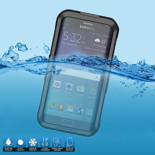 new styles 0a38c 92bb7 VEGO Samsung Galaxy S6 Edge Plus Waterproof Case, Full Body Sealed  Waterproof Dirtproof Snowproof Durable Case Cover with Touch Responsive  Front ...
