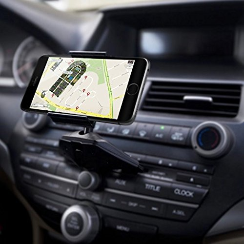 Handaes CD-Air CD Slot Smartphone Car Mount Holder Cradle for All iPhone and Android Devices