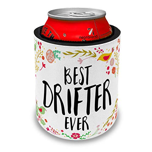 NEONBLOND Happy Floral Border Drifter Slap Can Cooler Insulator Sleeve