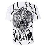 Juice Wrld T Shirt Camiseta tee Hombres 3D Print Hip Hop Rapper Juice Wrld Casual Camiseta de Manga Corta para Niños Niñas