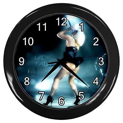 KKG073 New Black Wall Clock Modern Decoration the Lady Gaga