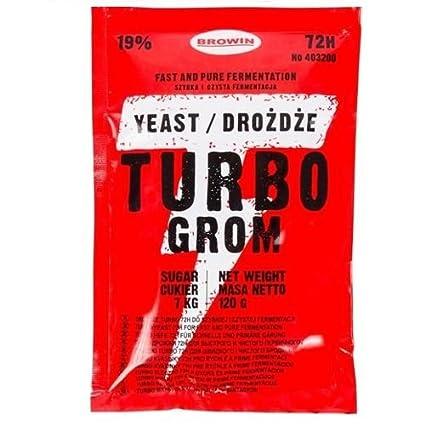 Brau Levadura cervecería Levadura de cerveza Turbo 72H 25L 19%