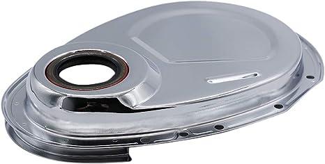 Lasamot Jeu de Cache-cha/înes en Chrome pour SB Chevy 327 350 383 400 SBC Joint Joint Boulons