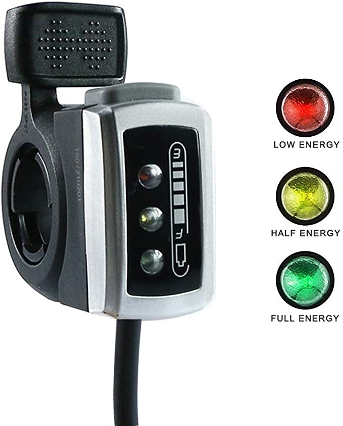 48V Electric Scooter Twist Throttle Grips Power Display Switch LED Indicator