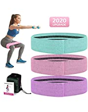 DEAMOS 3PCS Resistance Bands Set Exercise Loop Bands for Booty,Resistance Workout Bands for Legs and Butt,Home Fitness,Strength Training for Men & Women