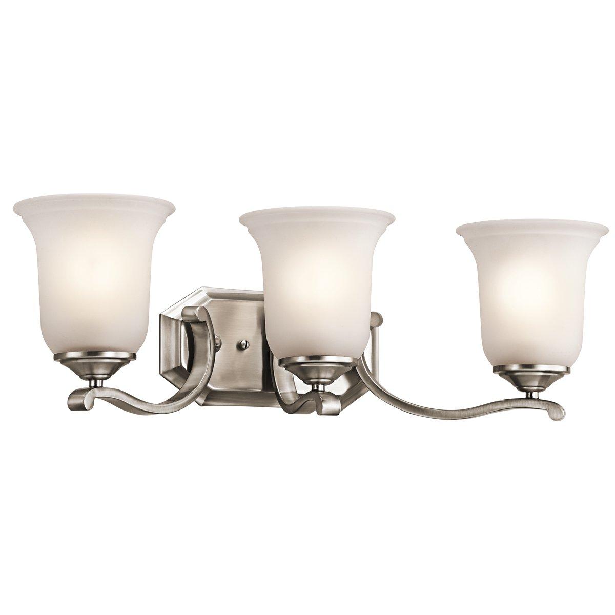 Kichler 45403CLP Three Light Bath   Vanity Lighting Fixtures   Amazon.com